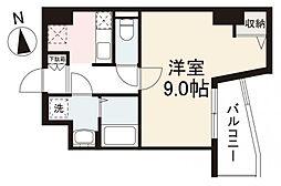 JR高徳線 栗林公園北口駅 徒歩7分の賃貸マンション 6階1Kの間取り