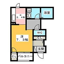 コンフォートビブレ[1階]の間取り