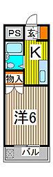 カーサ武蔵[1階]の間取り