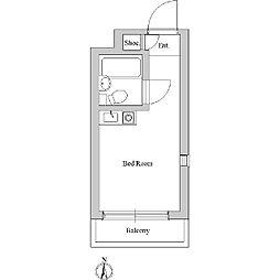 ルーブル新宿[0203号室]の間取り