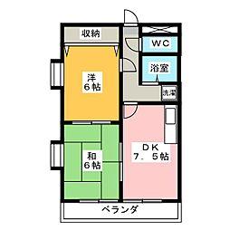 ラフォーレASAMI[2階]の間取り