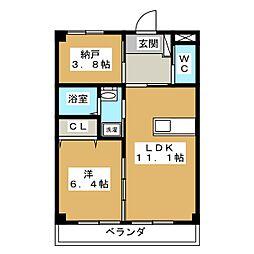 KI・ZU・NA[1階]の間取り