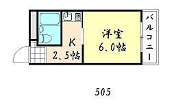 トゥリオーニ鶴橋[505号室]の間取り