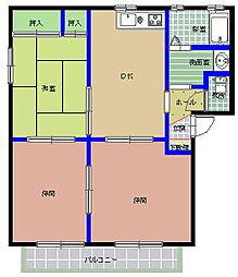ハイツ新田前 M[1階]の間取り