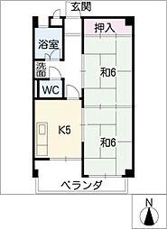 高砂コーポラス[2階]の間取り