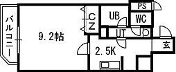 スカイヒルズN15[15階]の間取り