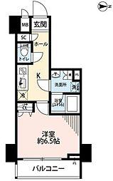 東京メトロ千代田線 湯島駅 徒歩1分の賃貸マンション 8階1Kの間取り