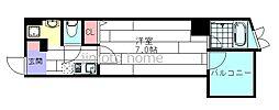 ハイムミニヨンⅡ[5階]の間取り