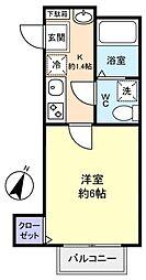 ヒルズ勝田台[2階]の間取り