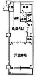 アーバンハウス東島田[4階]の間取り