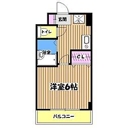 東京都八王子市平岡町の賃貸マンションの間取り