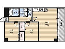 ピュアライズ京橋[4階]の間取り
