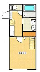 神奈川県相模原市緑区西橋本3の賃貸アパートの間取り
