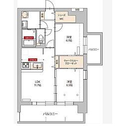 メゾンドリヴェール[4階]の間取り