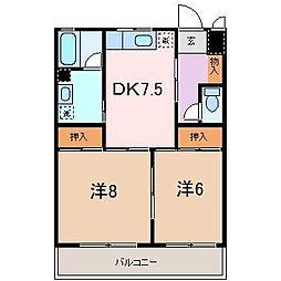 ロイヤルパレス徳倉[103号室]の間取り