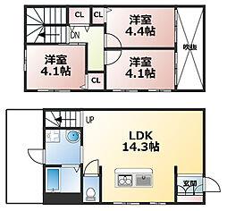 [テラスハウス] 兵庫県神戸市灘区国玉通3丁目 の賃貸【/】の間取り
