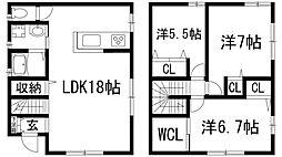[一戸建] 兵庫県西宮市甲東園2丁目 の賃貸【/】の間取り