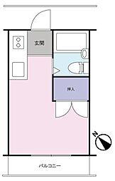 トーシンコーポマツバラ[205号室]の間取り