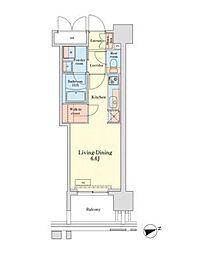 都営三田線 三田駅 徒歩11分の賃貸マンション 3階ワンルームの間取り