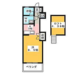 ウェーブHAMAJIRI[2階]の間取り