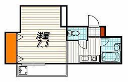 シングルハウスアトラクター[502号室]の間取り