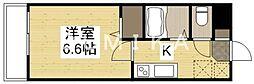 ウェーブレジデンス原尾島III 2階1Kの間取り