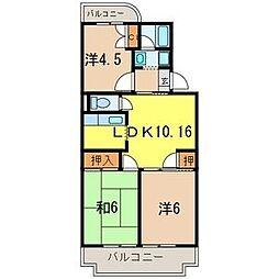 埼玉県さいたま市緑区東浦和9丁目の賃貸マンションの間取り
