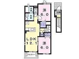カーサ・ラフィナート[2階]の間取り