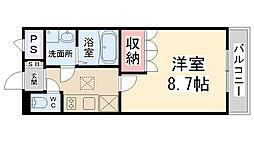 comfort maison[202号室]の間取り