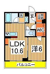 メゾン ド フィーユ 3階1LDKの間取り