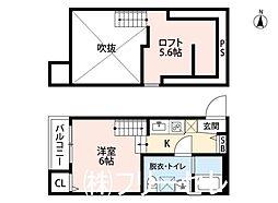 福岡県福岡市城南区田島3丁目の賃貸アパートの間取り