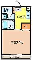 サンライフFUKAYA[207号室]の間取り