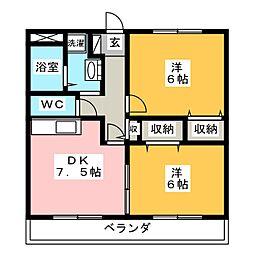 ユアーズホーム[1階]の間取り