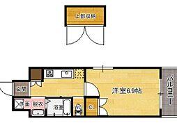 CLUB ORIENT No.122 ETERNITY NISSEKI STRE 6階1Kの間取り