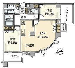 クリオ要町壱番館13F[13階]の間取り