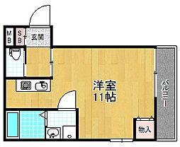 アビリオ宮之阪[2階]の間取り