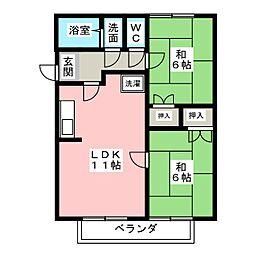 ベストハウス[2階]の間取り