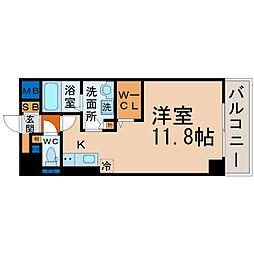 愛知県名古屋市昭和区鶴舞1丁目の賃貸マンションの間取り