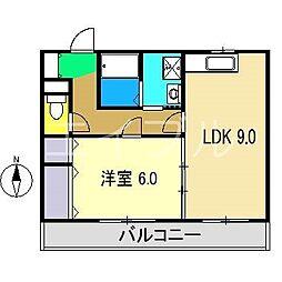 MONJYUハイツII[3階]の間取り