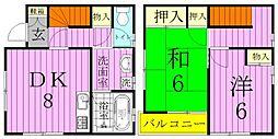 [テラスハウス] 千葉県松戸市千駄堀 の賃貸【/】の間取り