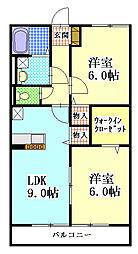 ヤマユウハウス山科[203号室]の間取り