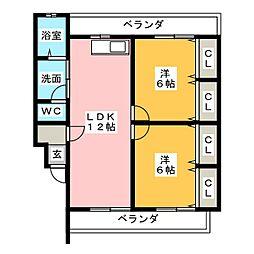 STELLA伏見[2階]の間取り