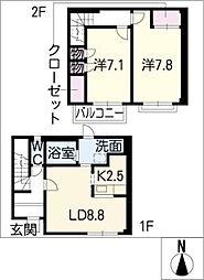 [タウンハウス] 愛知県小牧市大字岩崎 の賃貸【/】の間取り
