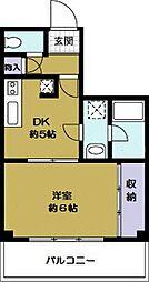 綿谷第2マンション[3階]の間取り