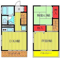 JR京浜東北・根岸線 赤羽駅 徒歩9分の賃貸アパート 1階2DKの間取り
