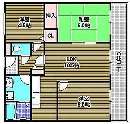 グリーンヒル藤沢[3階]の間取り