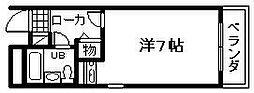 シャルマンフジ岸和田弐番館[106号室]の間取り