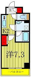 東京メトロ南北線 志茂駅 徒歩2分の賃貸マンション 9階1Kの間取り