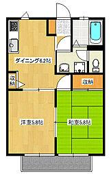 ファインクレスト[1階]の間取り