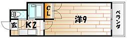 No.21 インターネット片野[3階]の間取り